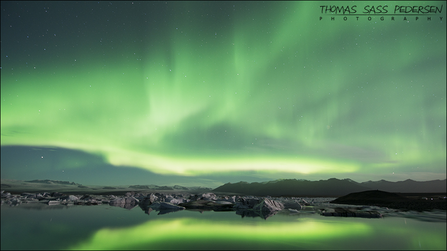 Nothern Light, Nordlys, Aurora borealis, Jökulsárlón, Ice, Is