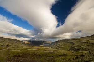 Klipper på østsiden af Island